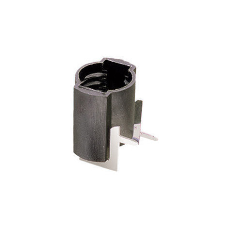 Portalámparas a rosca E-10 para circuito impreso horizontal Negro Electro DH 12.041/N 8430552021444
