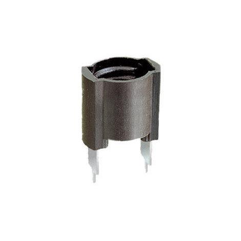 Portalámparas a rosca E-10 para circuito impreso Negro Electro DH 12.033 8430552020911