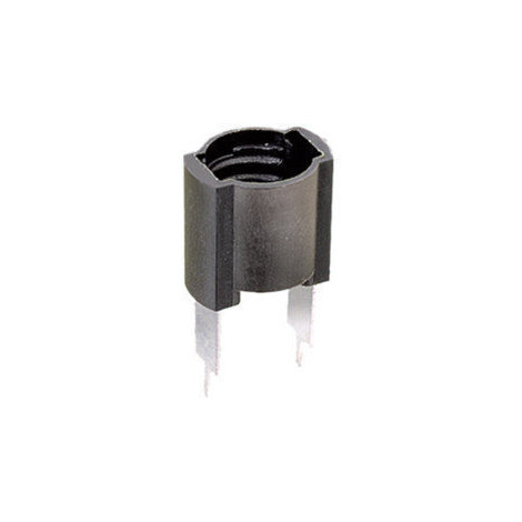 Portalámparas a rosca E-10 para circuito impreso Negro Electro DH 12.034 8430552020928