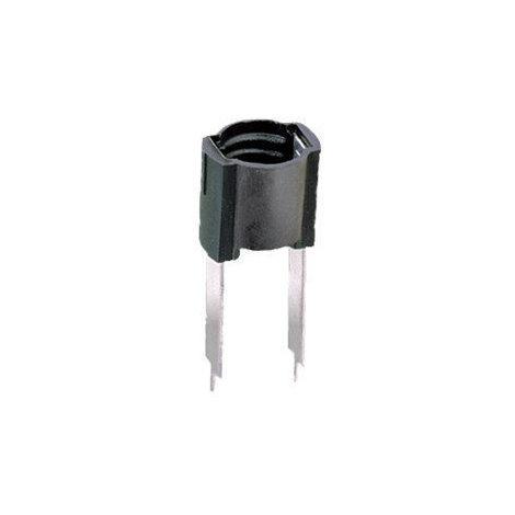 Portalámparas a rosca E-10 para circuito impreso Negro Electro DH 12.037 8430552021260