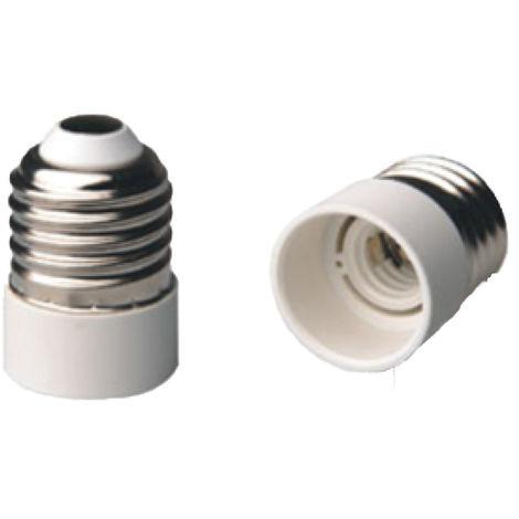 Portalámparas adaptador de E27 a E14. SOLERA AD27-14