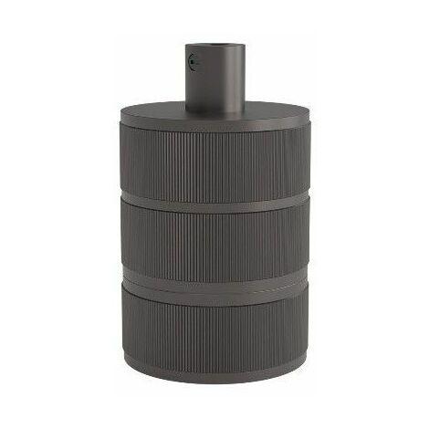 Portalamparas aluminio decorativo 3 anillos CALEX 940424 E-27 negro perla