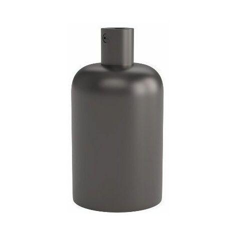 Portalamparas aluminio decorativo CALEX 940402 E-27 40mm negro perla