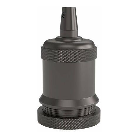 Portalamparas aluminio M-003 decorativo CALEX 940464 E-27 negro perla