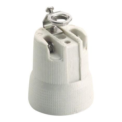Portalámparas campana de porcelana E27 250V 4A (Solera 678A)