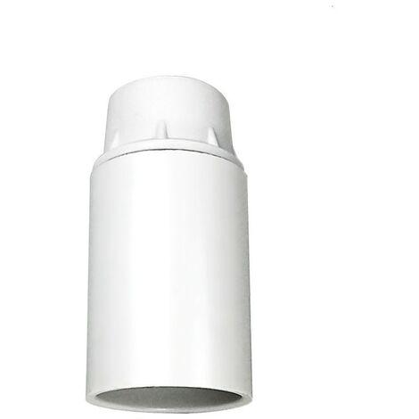Portalámparas casquillo E14 blanco, baquelita liso 2A 250V