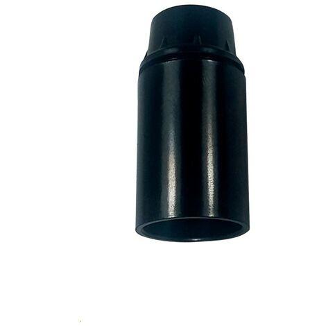 Portalámparas casquillo E14 negro, baquelita liso 2A 250V