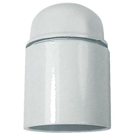 Portalámparas casquillo E27 blanco, baquelita liso 4A 250V - Negro