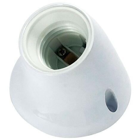 Portalámparas casquillo E27 de color blanco curvo - Blanco