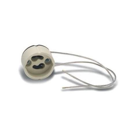 Portalámparas cerámico GU10 (cable 18 cm.)