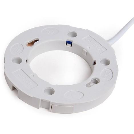 Portalámparas Cerámico GX53 Cable 300Mm 180ºc (KD-PORTALGX53)