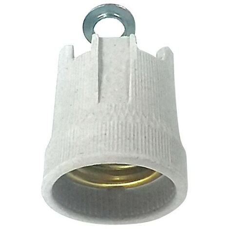Portalámparas cerámico reforzado casquillo E27 gris - Gris