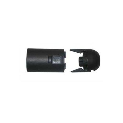 Portalámparas clip negro E14 liso EDM 44050