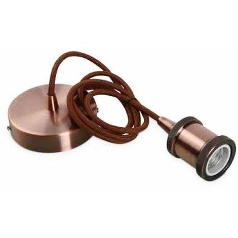 Portalamparas colgante 1M aluminio cable cobre GSC 0705237