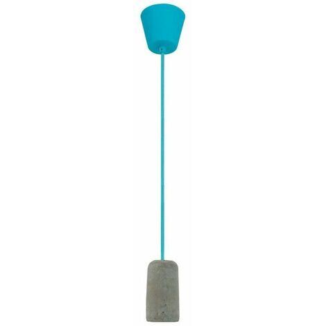 Portalámparas colgante cemento azul CRISTALRECORD 93-631-15-121