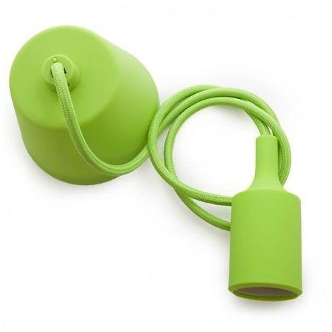 Portalamparas colgante E27 Verde
