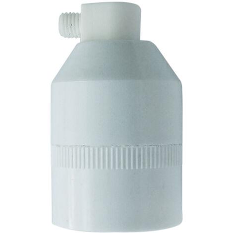 Portalámparas cónico con tornillo E27 blanco (F-BRIGHT 1200243-E)