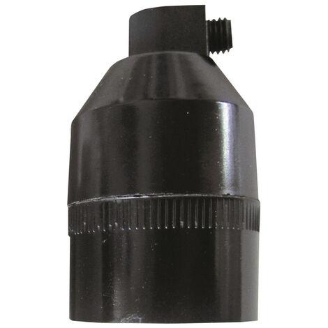 Portalámparas cónico negro con tornillo (F-Bright 1200243-EN)