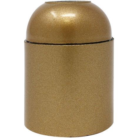 Portalámparas cuerpo liso dorado E27 baquelita (Koala H038831)