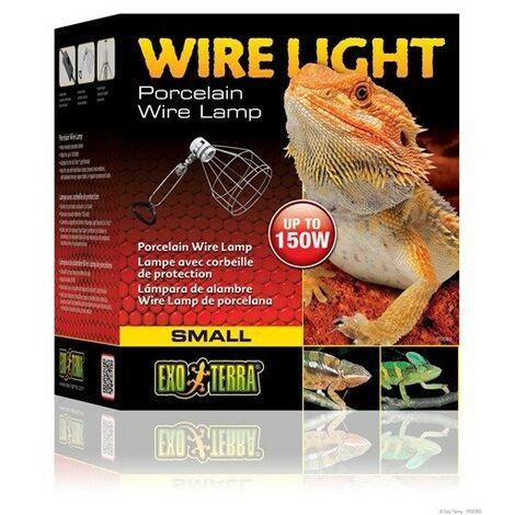 Portalámparas de Cerámica para Terrario Exo Terra Wire Light para Bombillas Hasta 150 W