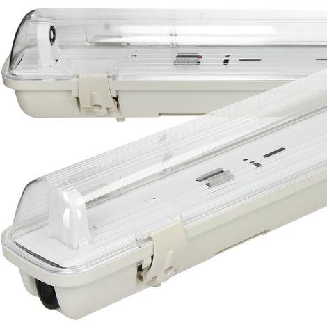 Portalámparas de pared contra humedad LED sellado tubo bodega eléctrica 120 cm
