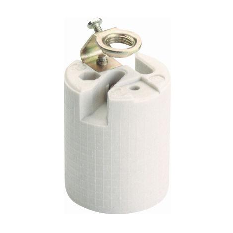 Portalámparas de porcelana E27 250V 4A (Solera 582A-U) (Bolsa con solapa)