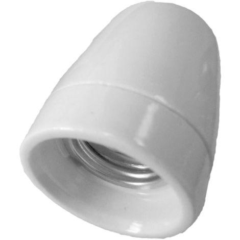 Portalámparas decorativo vintage cerámico blanco superior E27 100W (F-Bright 1200545-S)