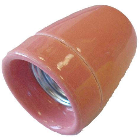 Portalámparas decorativo vintage cerámico rosa E27 100W (F-Bright 1200545-RO)