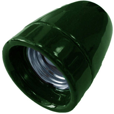 Portalámparas decorativo vintage cerámico verde E27 100W (F-Bright 1200545-V)