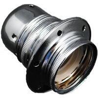 Portalámparas decorativo vintage metálico plata E27 100W (F-Bright 1200604-PL)