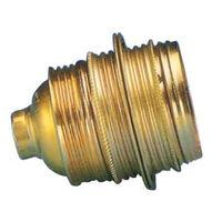 Portalámparas decorativo vintage metálico roscado oro latón E27 (F-BRIGHT 1200614)