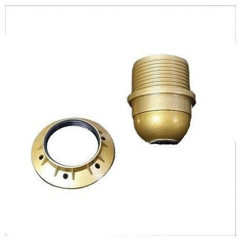 Portalámparas dorado con arandela E27 EDM 44037