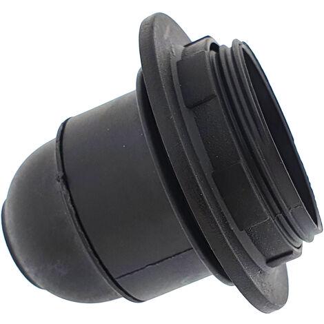 portalamparas e-27 con rosca tope negro