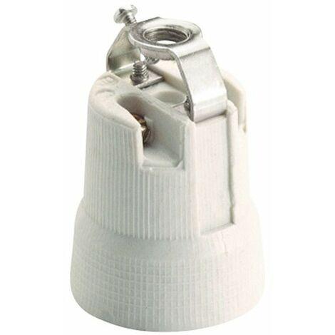Portalámparas E-27 de porcelana campana 678B Solera
