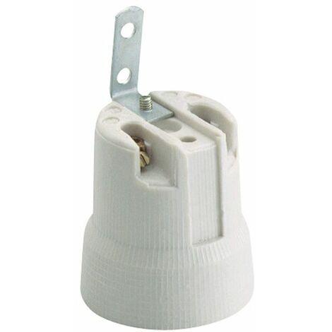 Portalámparas E-27 de porcelana campana 678F Solera