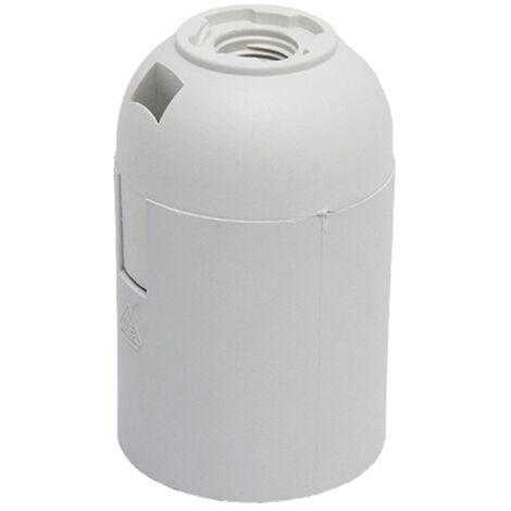 portalamparas e-27 liso blanco