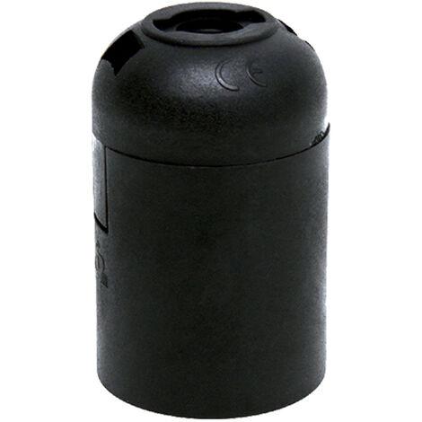 portalamparas e-27 liso negro