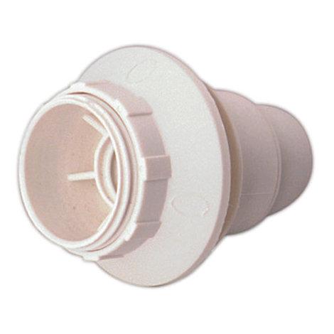 Portalámparas E14 con a rosca y arandela 2 A 250 V Color blanco Electro DH. 12.088/B 8430552085910