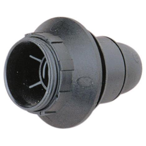 Portalámparas E14 con a rosca y arandela 2 A 250 V Color Negro Electro DH. 12.088/N 8430552085903