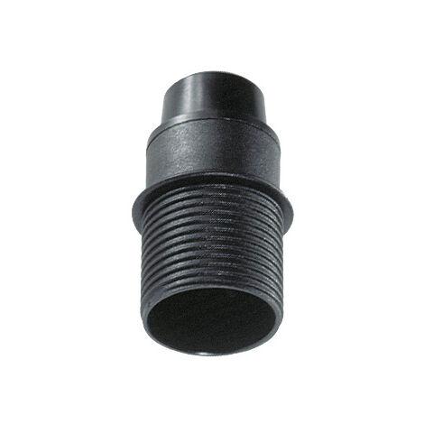 Portalámparas E14 cuerpo roscado con tope negro 250V 2A (Solera BT6584CTN) (Blíster)