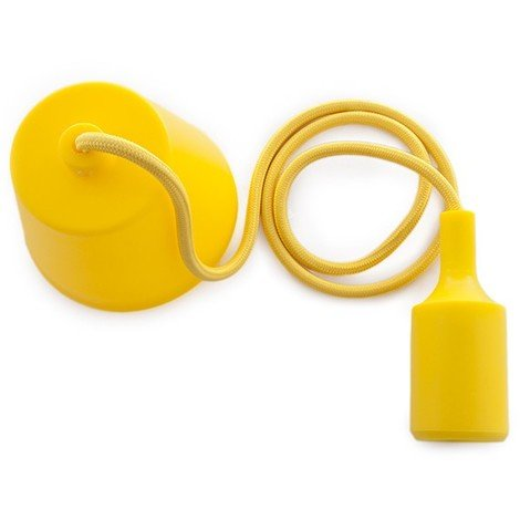 Portalámparas E27 Cable - Rosetón - Color Amarillo (HO-CAB-E27-Y)