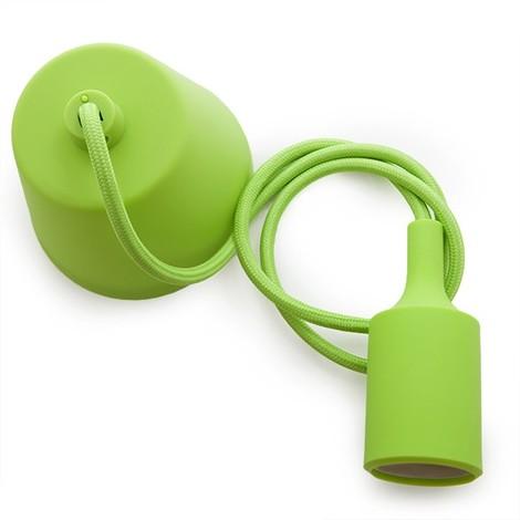 Portalámparas E27 Cable - Rosetón - Color Verde (HO-CAB-E27-G)