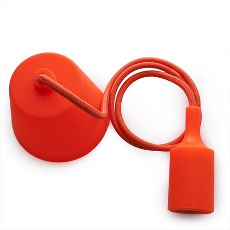 Portalámparas E27 Cable - Rosetón Naranja (HO-CAB-E27-O)