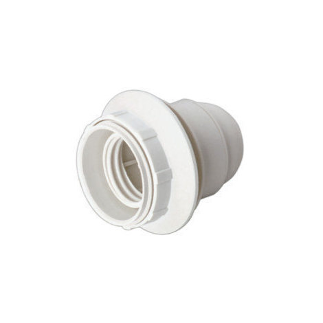 Portalámparas E27 con a rosca y arandela Color blanco 4 A 250 V Electro DH. 12.093/B 8430552085934