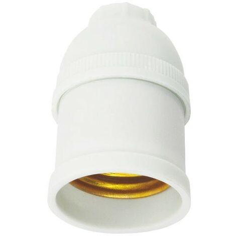 Portalámparas E27 de color blanco Eco - Blanco