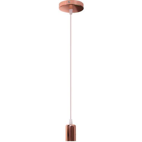 Portalámparas E27 Lámpara Colgante Retro Lámpara de Techo Industrial Lámpara Clgante Vintage Colgante de Luz Edison Antigua - Oro Rosa