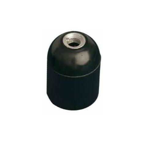 Portalámparas E27 liso negro de baquelita GSC 2201262