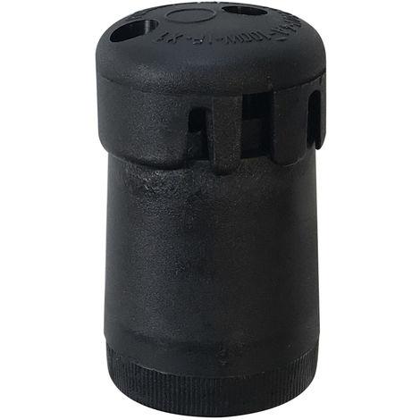 Portalámparas E27 tipo feria negro