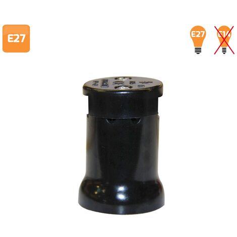 Portalámparas feria negro E27 para cable plano
