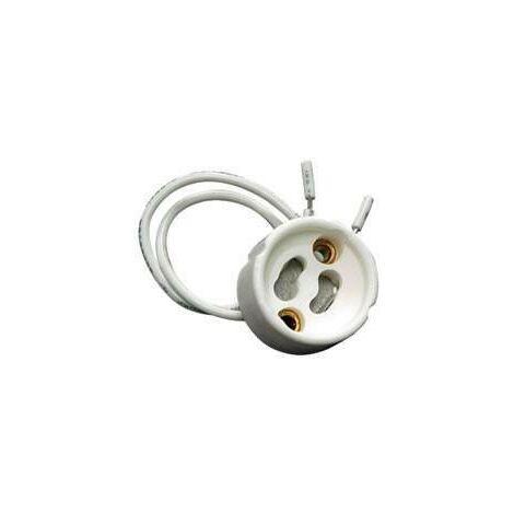 Portalamparas GU10 Ceramico Con Cable 15ctm